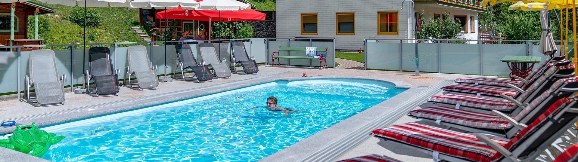 Garten & Pool, Gästehaus Herrmann in Filzmoos