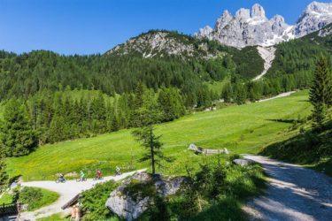 Mountainbiken im Sommerurlaub in Filzmoos, Salzburg