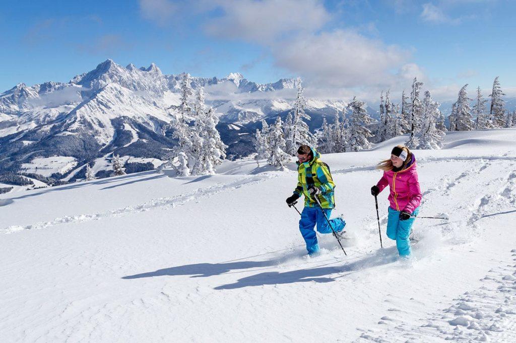Schneeschuhwandern im Skiurlaub in Filzmoos, Ski amadé