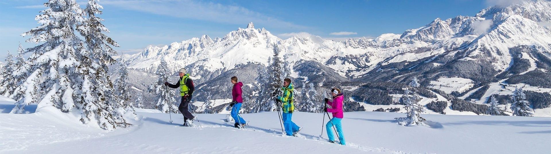 Schneeschuhwandern im Winterurlaub in Filzmoos, Ski amadé